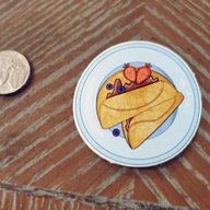 Plate O' Crepes Sticker
